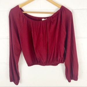 The Hanger Cropped Long Sleeve Top